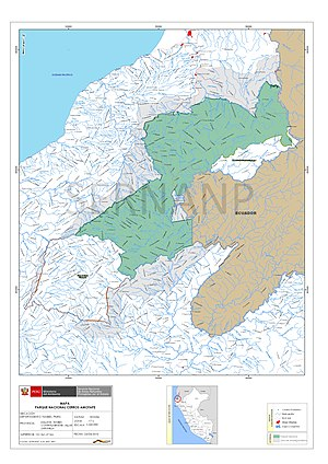 Cerros de Amotape National Park - Official map of Cerros de Amotape National Park