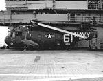 SH-3A Sea King of HS-6 aboard USS Kearsarge (CVS-33), circa in 1964 (NNAM.2011.113.378).jpg