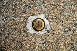 SHOM Benchmark, Le Pouliguen, Loire-Atlantique, France - Close Up.JPG