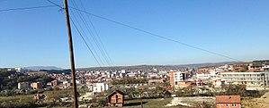 Skenderaj - Panoramic view of Skenderaj in autumn