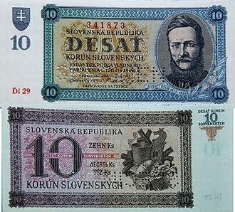 Banknotes of the Slovak koruna (1939-45) - 10 korún