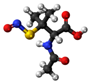 S-Nitroso-N-acetylpenicillamine - Image: SNAP 3D balls