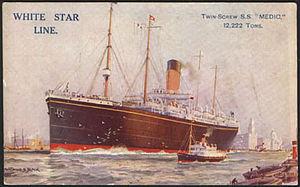 SS Medic - Postcard of SS Medic