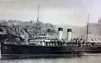 SS Mona's Isle (1905) - Onward pictured at Boulogne, 1914.