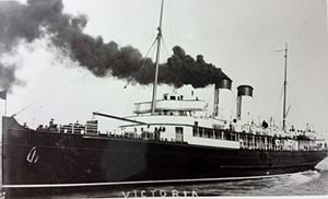 SS Victoria (1907) - Victoria during her South Eastern and Chatham Railway Company service.