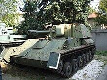SU-76M at the Bucharest Military museum - Credits: Wikimedia commons