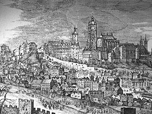 History of Prague - Prague Castle in 1606