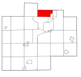 Saginaw County Michigan townships Kochville highlighted.png