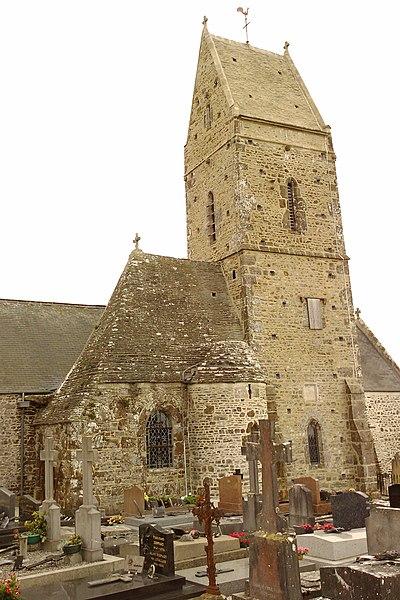 église (XIVe,XVe)  de fr:Saint-Georges-de-la-Rivière Le clocher est contruit pour servir de tour de guet et de défense