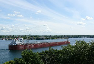English: Lake freighter CSL Niagara on the St....
