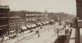 Salt Lake City - Part of Main Street, 1890
