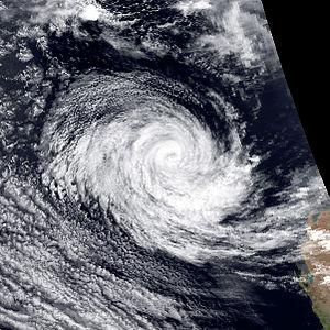 1989–90 Australian region cyclone season - Image: Sam jan 18 1990 0729Z