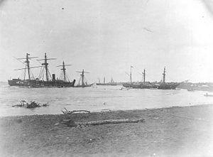 USS Trenton (1876) - Image: Samoan Crisis wrecks