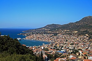 Vathy,capital of Samos.