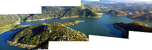 San Vicente Reservoir - Panorama of San Vicente Reservoir - May 2011