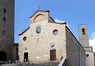 Roman Catholic collegiate church and minor basilica in San Gimignano, Tuscany, central Italy