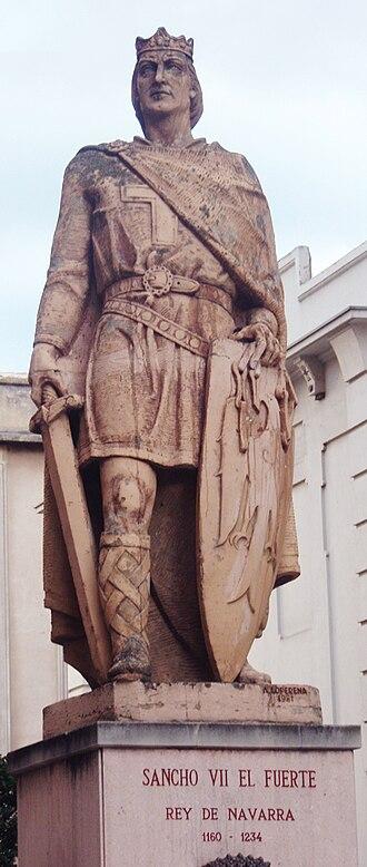 Sancho VII of Navarre - Statue in Tudela