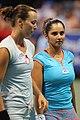 Sania Mirza with her co-player Yaroslava Shvedova at Citi Open Tennis Finals July 31, 2011.jpg