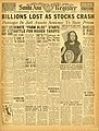Santa Ana Register front page, Oct 28, 1929 - Flickr - Orange County Archives.jpg