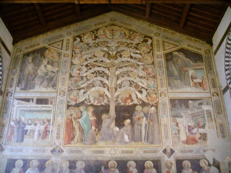 File:Santa croce, affreschi di taddeo gaddi.JPG