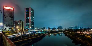 Marginal Pinheiros - Image: Sao Paulo at night Panoramic