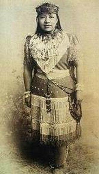 """Sarah Winnemucca - Sarah Winnemucca, performing as """"Princess Winnemucca"""", daughter of Chief Winnemucca"""