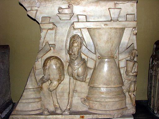 Sarcophagus milling scene - vatican museum