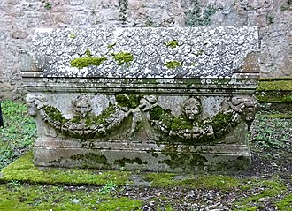 Minishant - Sarcophagus of David Cathcart of Middle Auchendrane or Blairstoun, Lord Alloway in Alloway Auld Kirk.