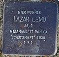 Sassnitz, Mittelstr. 5, Stolperstein Lazar Lemo.jpg