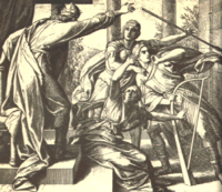 Saul Tries to Kill David by Julius Schnorr von Carolsfeld