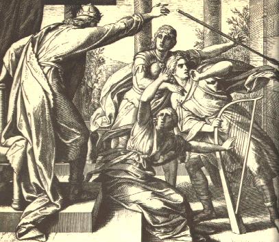 Saul Tries to Kill David by Julius Schnorr von Carolsfeld