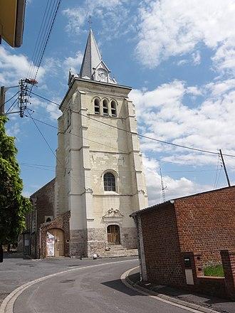 Saulzoir - Image: Saulzoir (Nord, Fr) église façade