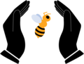 Save the bees icon (color).png