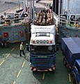 Scania R480 boarding the Rothesay ferry with timber.jpg