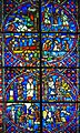 Scenes from the history of Saint Nicasius, 13th Century, Stained Glass, Louvre (34785634134).jpg