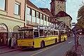 Schaffhausen trolleybus 106 on Bahnhofstrasse in 1991.jpg