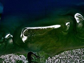 Schiermonnikoog - Satellite image of Schiermonnikoog