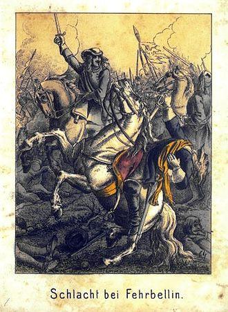 Battle of Fehrbellin - 19th century depiction