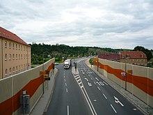 Schottenbergtunnel-Ausfahrt Richtung Elbbrücke.JPG