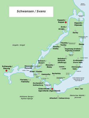Schwansen - Bilingual map of Schwansen