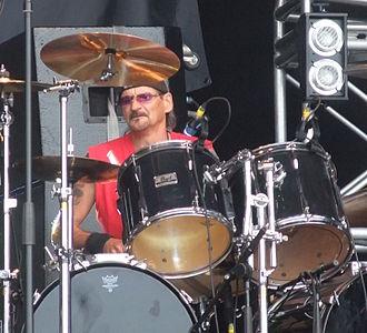 Scott Columbus - Columbus performing in 2010