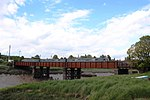 Sea Mills Viaduct - GWR 166220 going to Avonmouth.JPG
