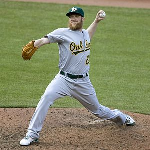 Sean Doolittle - Doolittle pitching for the Oakland Athletics in 2016