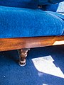 Seat inside Ffestiniog Railway carriage (7819447156).jpg
