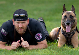 Secret Service officer and his police dog as part of the Emergency Response Team (ERT) Secret Service officer and his police dog as part of the Emergency Response Team (ERT).png