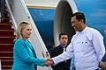 Secretary Clinton Arrives in Rangoon (6437372297).jpg