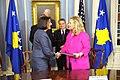 Secretary Clinton Shakes Hands With President of Kosovo Jahjaga (6518534033).jpg