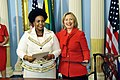 Secretary Clinton Smiles With South African Minister Maite Nkoana-Mashabane.jpg