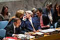 Secretary Kerry Speaks with Ambassador Power at the UN Security Council Meeting on Syria (23556853140).jpg