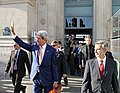 Secretary Kerry Waves to Parisians Upon Arrival at the Gare du Nord, June 2014.jpg